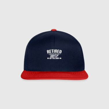 RETIRED 2018 - Ruhestand - Rente - Pension - Snapback Cap