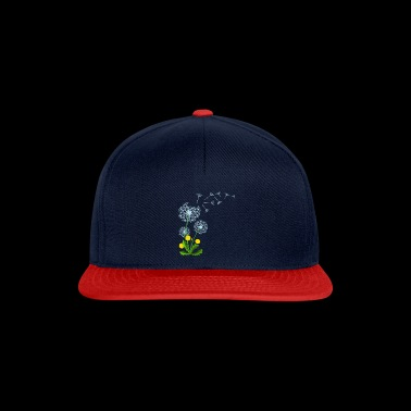 Flying dandelion seed gift idea - Snapback Cap