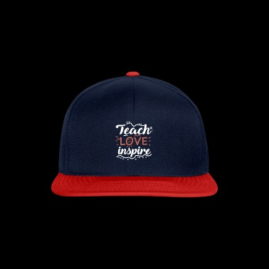 Teach Love Inspire Teacher School Student Love New - Snapback Cap