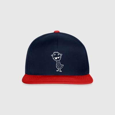 spotted tooth monster - Snapback Cap