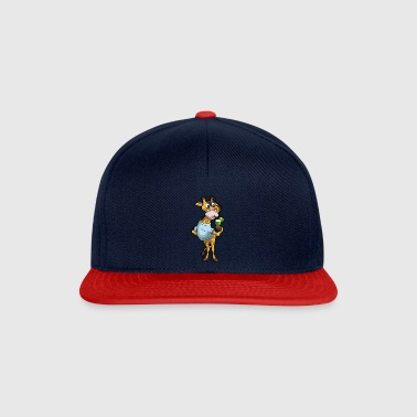 Giraffe Drinking Cocktail - Snapback Cap