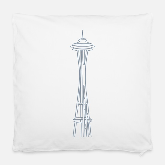"United States Pillow Cases - ""Space Needle"" in Seattle - Pillowcase 16"" x 16"" (40 x 40 cm) white"
