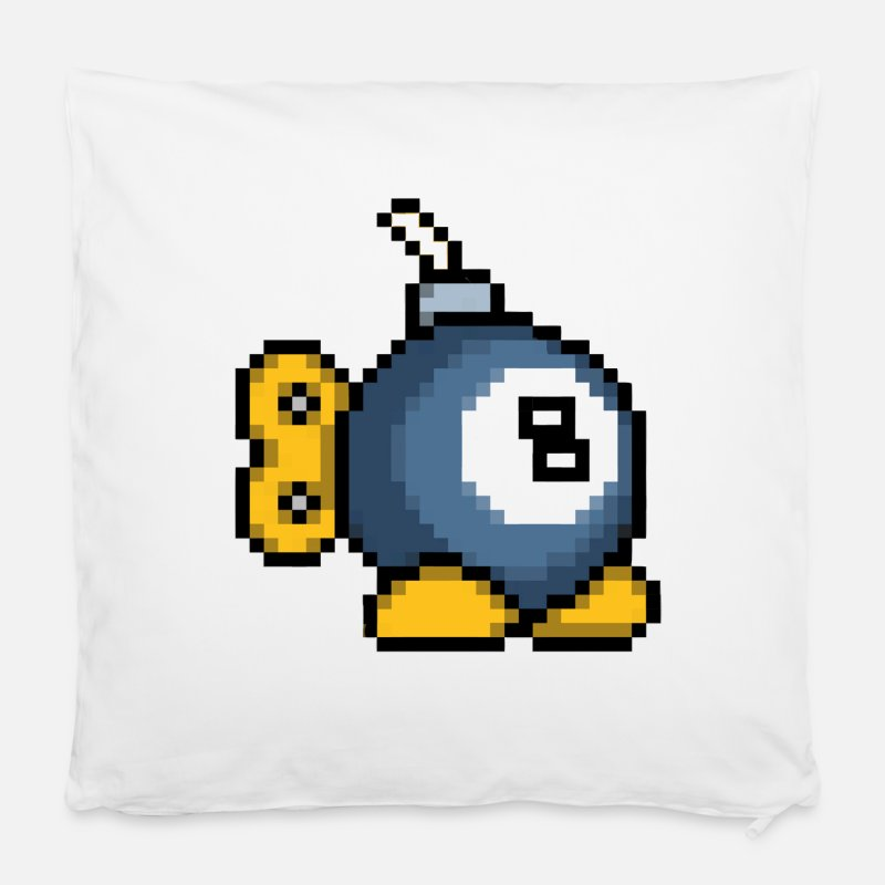 "8 Ball Pillow cases - 8bit 8ball Bomb - Pillowcase 16"" x 16"" (40 x 40 cm) white"