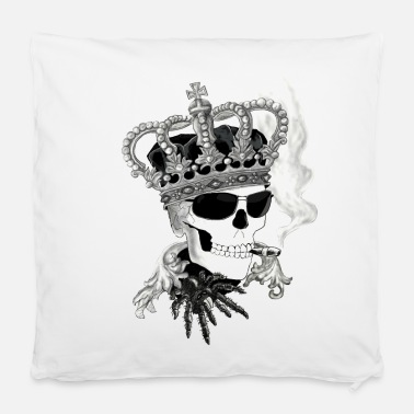 Pillowcases Skull with glasses - Pillowcase 40 x 40 cm