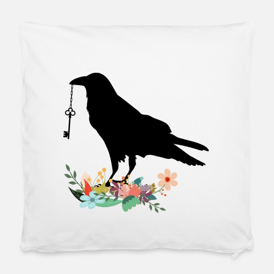 "Bird Pillow Cases - Bird - Pillowcase 16"" x 16"" (40 x 40 cm) white"