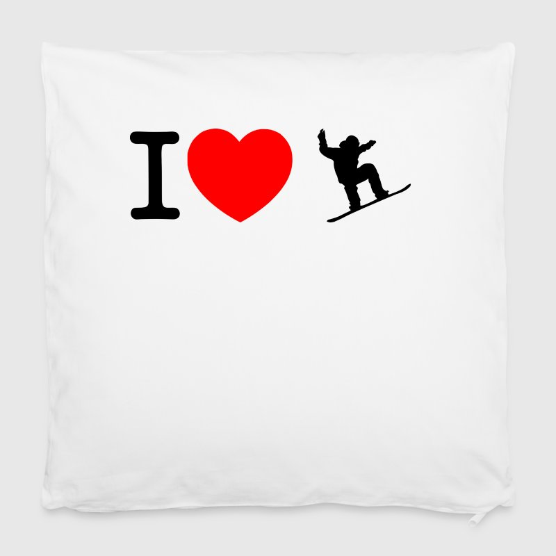 I love snowboard - Pillowcase 40 x 40 cm