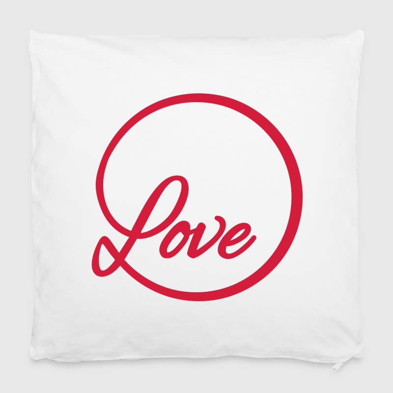 love Liebe circle typography graphic font - Pillowcase 40 x 40 cm