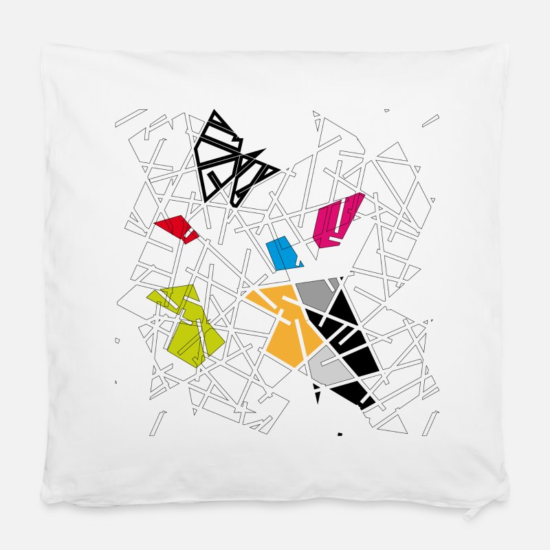 "Bestsellers Q4 2018 Pillow cases - An abstract pattern - Pillowcase 16"" x 16"" (40 x 40 cm) white"
