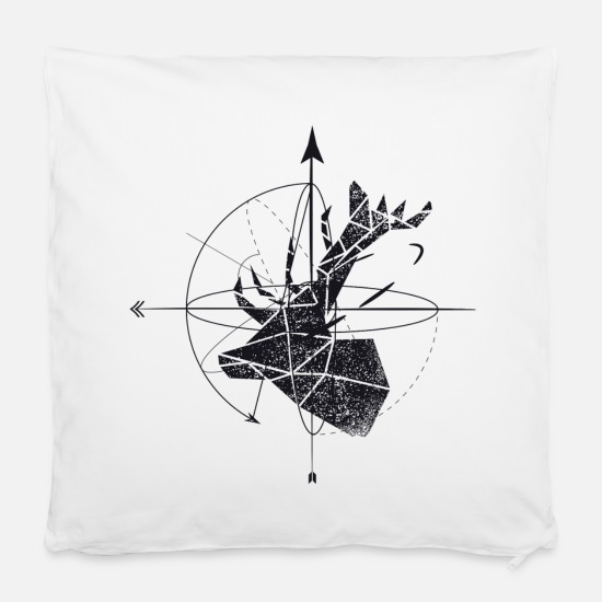 "Bestseller Pillow Cases - Deer geometry - Pillowcase 16"" x 16"" (40 x 40 cm) white"