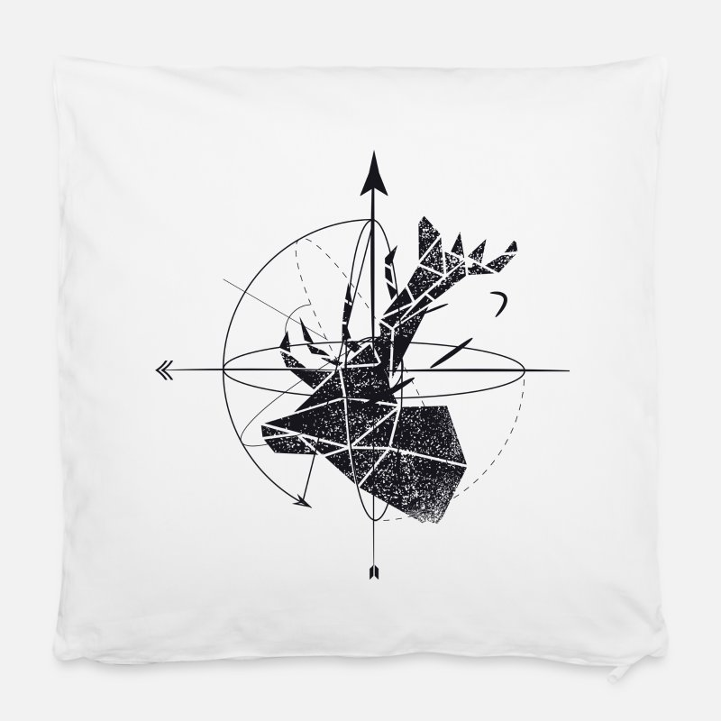 Bestseller Pillow cases - Deer geometry - Pillow Case white