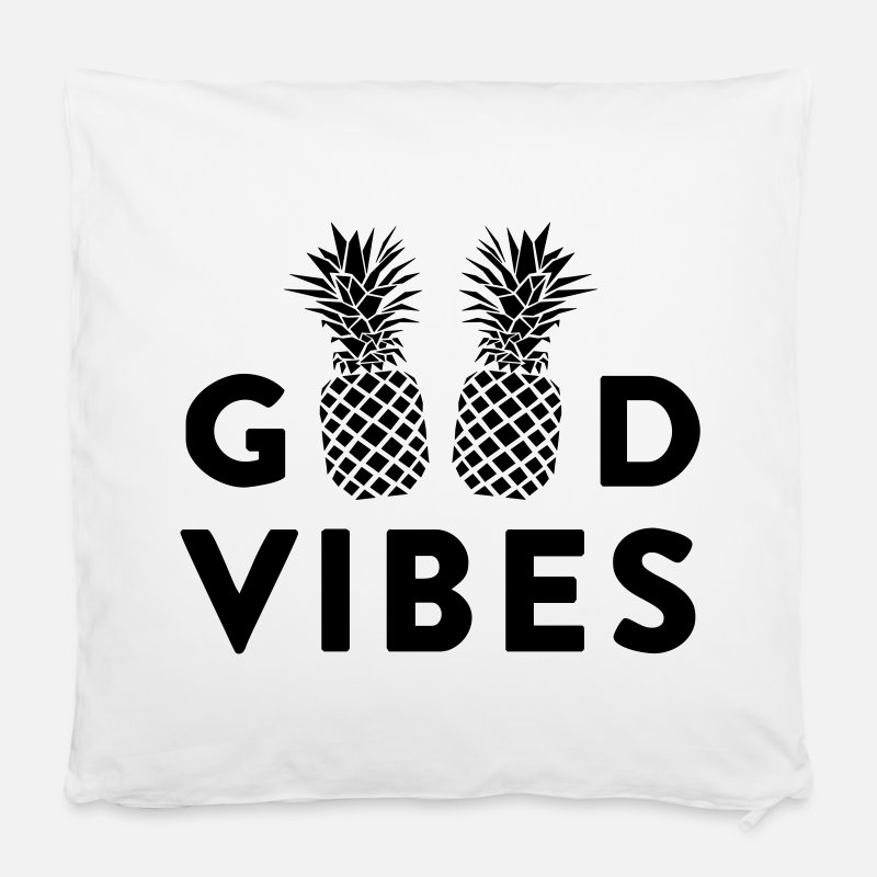 Summer Pillow cases - GOOD VIBES - Cushion Cover white