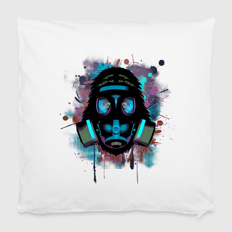 Urban Monkey with Gas mask Fallout - Pillowcase 40 x 40 cm