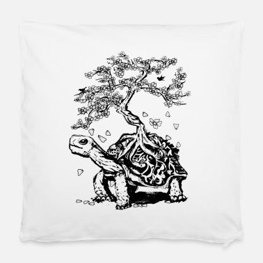 Turtle with a bonsai on the carapace - Pillowcase 40 x 40 cm