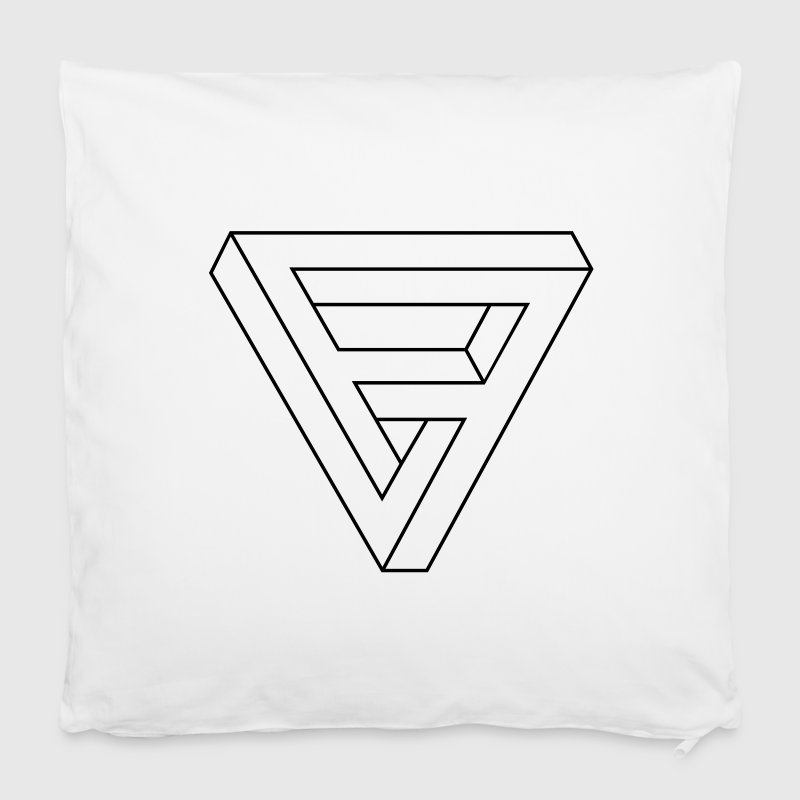Optical Illusion -  Impossible figure - Triangle - Pillowcase 40 x 40 cm