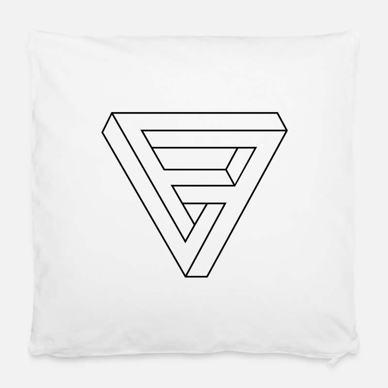 Geek Pillow cases - Optical Illusion -  Impossible figure - Triangle - Cushion Cover white