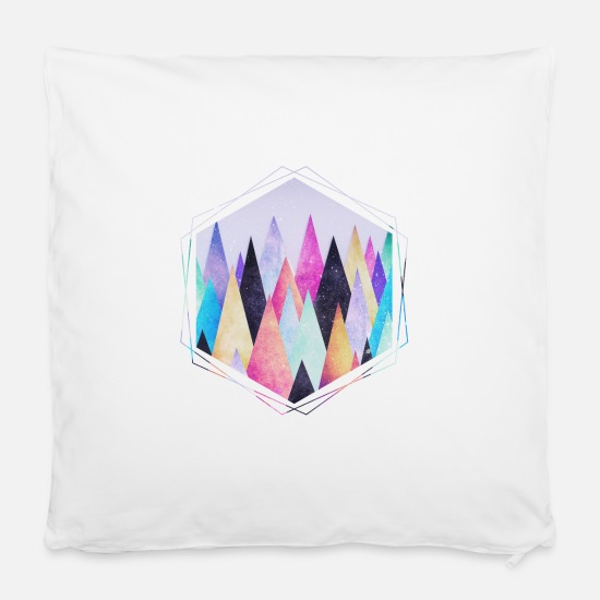 Montagne Housses de coussin -  Hipster triangles (geometry) Abstract Mountains  - Housse de coussin blanc