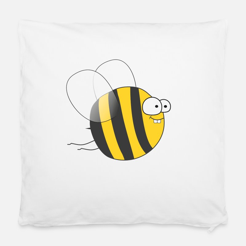 Honey Bee Pillow cases - Cool & Crazy Funny Bee / Bumble Bee (Sweet & Cute) - Cushion Cover white