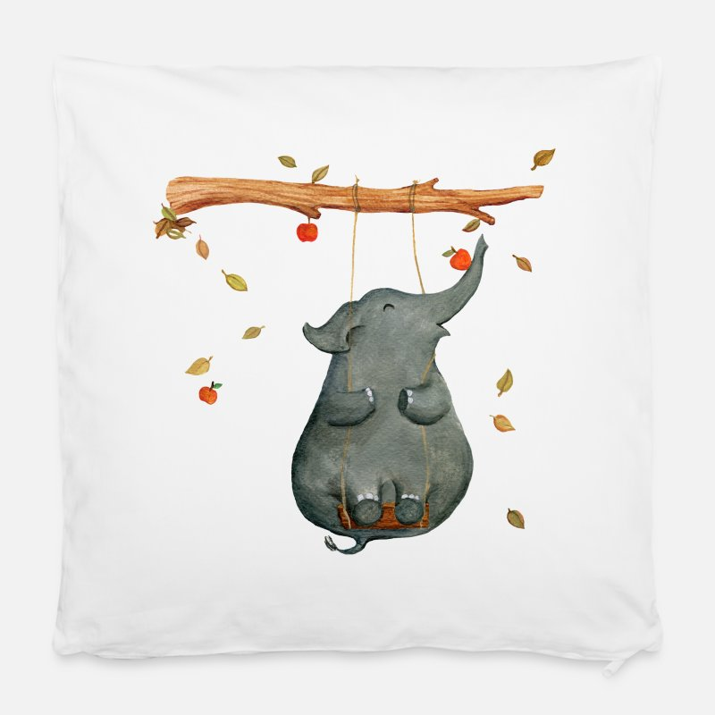 "First Day Of School Pillow cases - elephant - Pillowcase 16"" x 16"" (40 x 40 cm) white"
