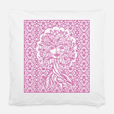 Homedecor Tree fairy, nature, earth, flower, forest, green, - Pillowcase 40 x 40 cm