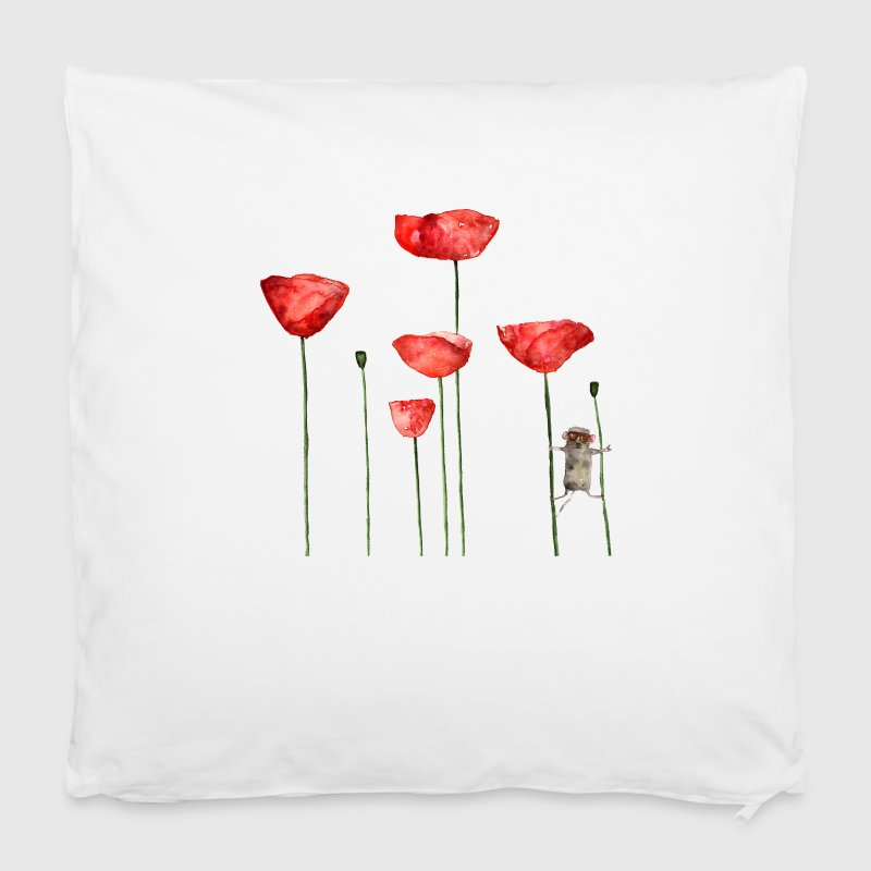 Mouse animal poppy summer funny naughty - Pillowcase 40 x 40 cm
