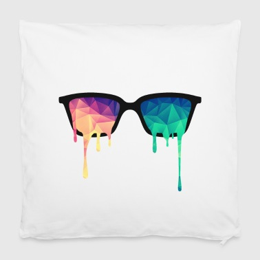 Abstract Psychedelic Nerd Glasses with Color Drops - Housse de coussin 40 x 40 cm