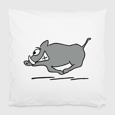 running boar - Pillowcase 40 x 40 cm