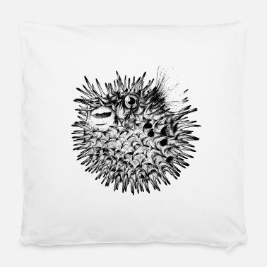 "Sea &amp Globefish - Pillowcase 16"" x 16"" (40 x 40 cm)"