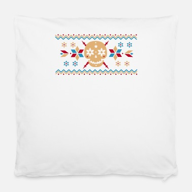 "Pattern Skull pattern in the Norwegian style  - Pillowcase 16"" x 16"" (40 x 40 cm)"