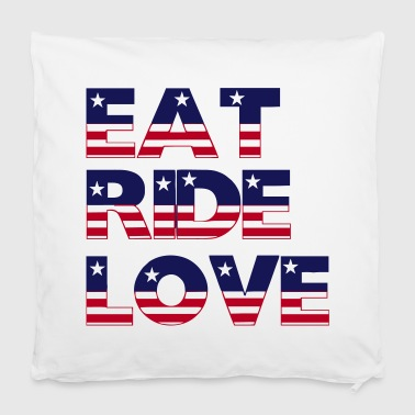 Eat Ride Love - Pillowcase 40 x 40 cm