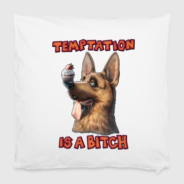 Temptation is a Bitch - Housse de coussin 40 x 40 cm