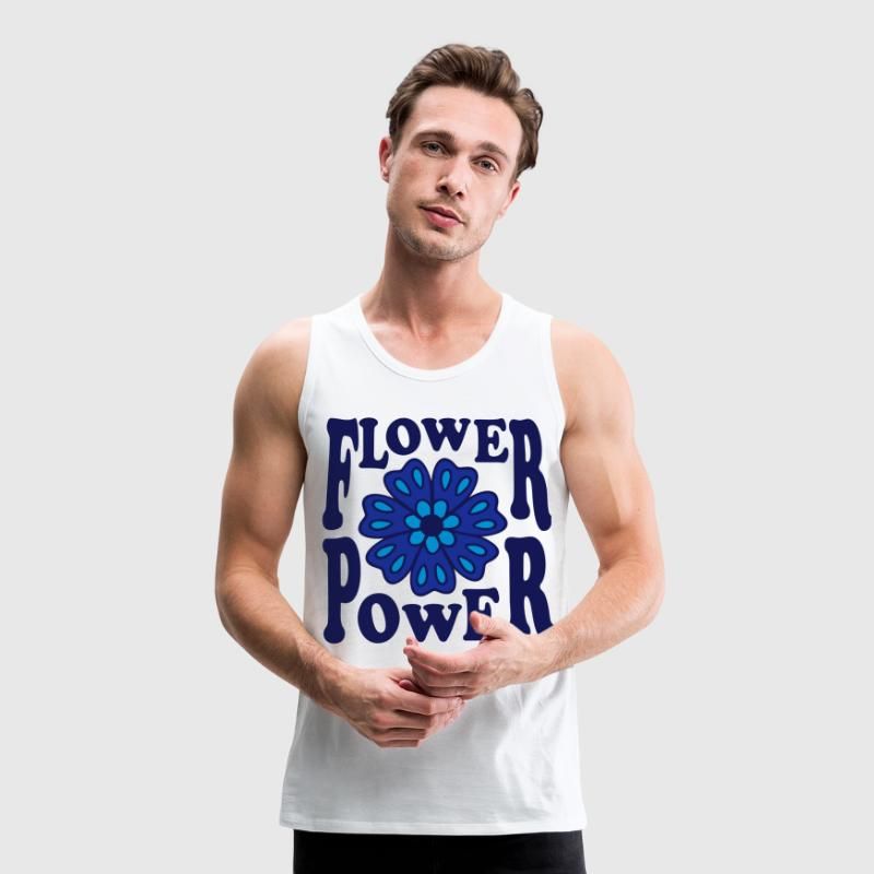 Flower Power 70s  Peace Love Blumen Blume retro - Männer Premium Tank Top