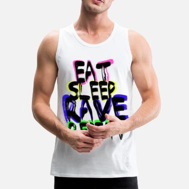Colourful Rave Repeat - Men's Premium Tank Top
