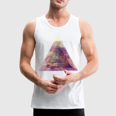 MOUSTACHE TRIANGLE YOUNG WILD FREE HIPSTER EYE 2 - Männer Premium Tank Top