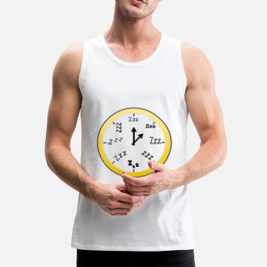 Clock Sleeping Clock Transparent / Sleeping Clock - Premium singlet for menn