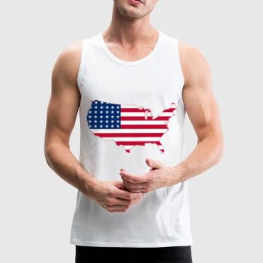 USA USA - Premium singlet for menn