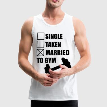 Married to gym : Gym Body building Fitness  - Männer Premium Tank Top