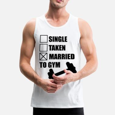 Bodybuilder Married to gym : Gym Body building Fitness  - Männer Premium Tank Top