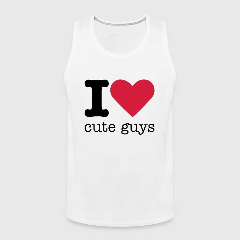 I Love Cute Guys - Men's Premium Tank Top