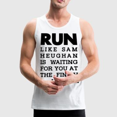 RUN Sam_Heughan Graphic - Men's Premium Tank Top