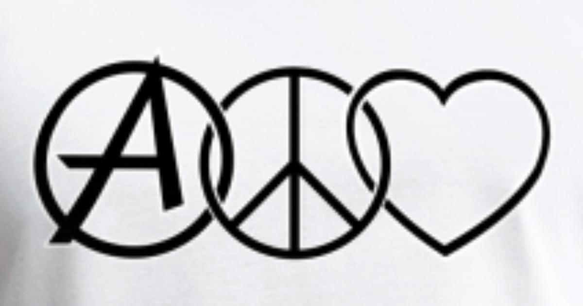 Anarchy Peace Love By Shady Fr Spreadshirt