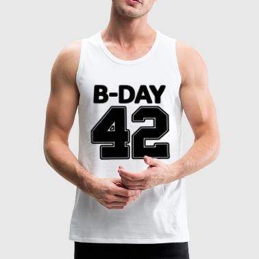 Number 42 / 42nd birthday number jersey number - Men's Premium Tank Top