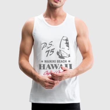 Hawaii Waikiki Beach Surfing - Men's Premium Tank Top