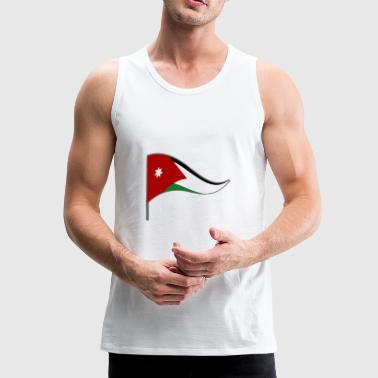 Jordan Amman Arab flag flag national colors - Men's Premium Tank Top