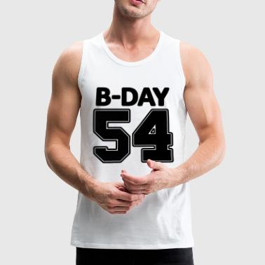 Player Number Number 54, 54th birthday number - Men's Premium Tank Top