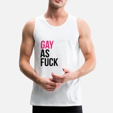 GAY as f*ck - Mannen premium tank top