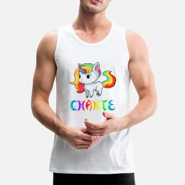 Chant Unicorn Chante - Men's Premium Tank Top