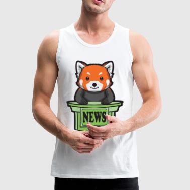 Presenteren Red Panda News Presenter - Mannen Premium tank top