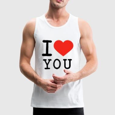 I love I love U - Men's Premium Tank Top