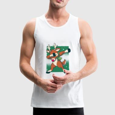 Cool and modern Christmas, dancing stag - Men's Premium Tank Top