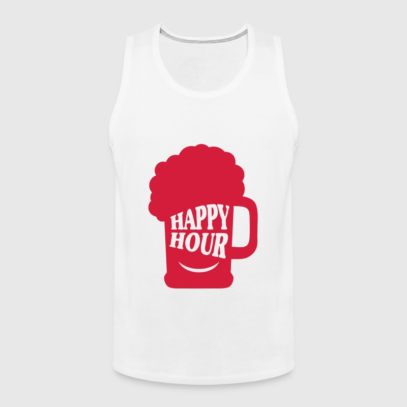 beer happy hour quote alcohol humor - Men's Premium Tank Top